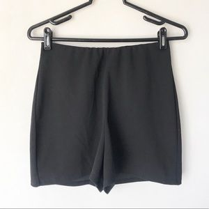 MISSGUIDED black high waisted shorts